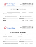 COVID Rapid Test Results