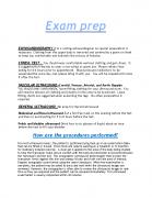 Ultrasound Exam Info